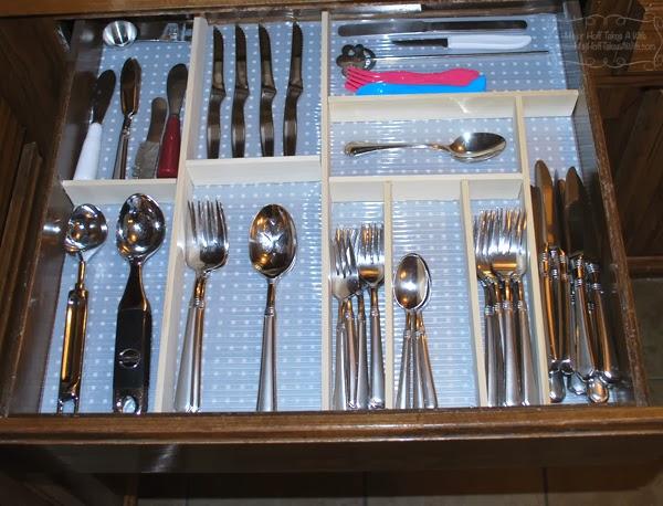 Finished custom silverware drawer organizer