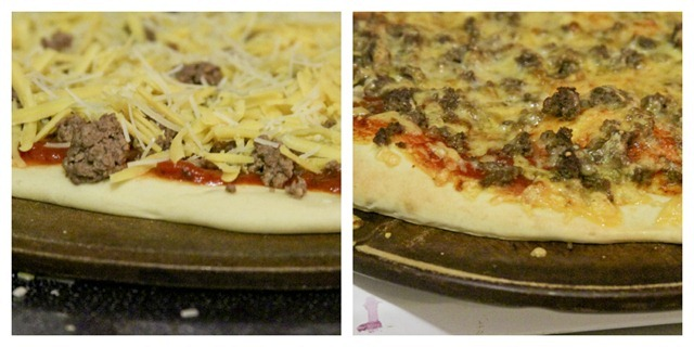 Pizza diptych