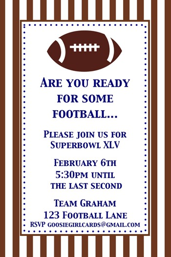 superbowl printable at goosie girl cards