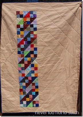 Jacobs LAdder back shows quilting