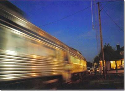Lewis & Clark Explorer passing the depot in St. Helens, Oregon on September 24, 2005