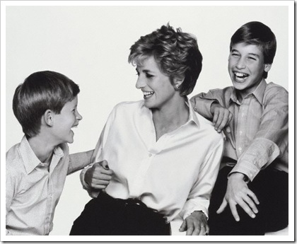 NPG P717(16), Diana, Princess of Wales with her sons