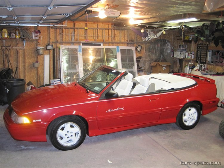 1993 Pontiac Sunbird Convertible Specifications Pictures