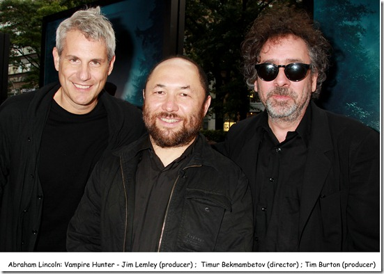 Jim Lemley,Timur Bekmambetov and Tim Burton