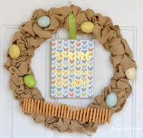 Simple Spring Burlap Wreath