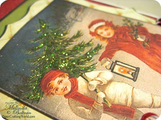 vintage christmas kids card idea closeup 500
