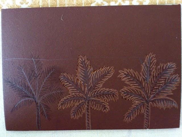 Palmtrees linogravure HeleneB3