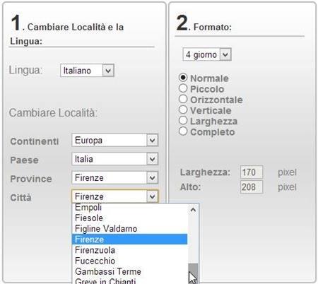 ilmeteo-configurazione-widget
