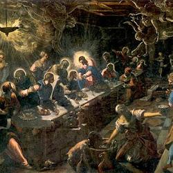 Jacopo Tintoretto (1592-1594): La última cena. Manierismo. Basílica de San Giorgio Maggiore