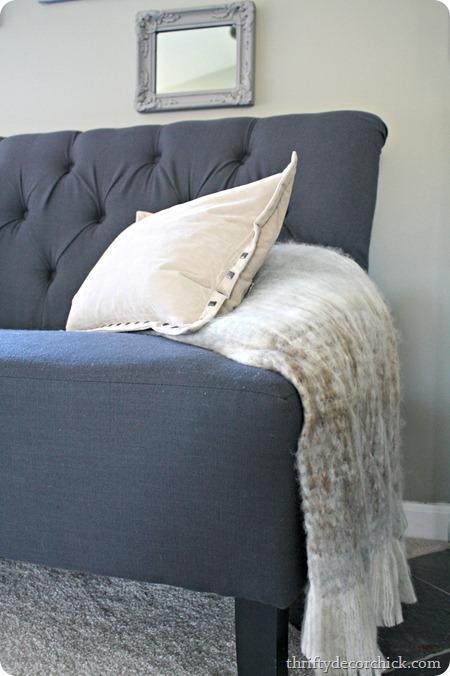 dark gray settee