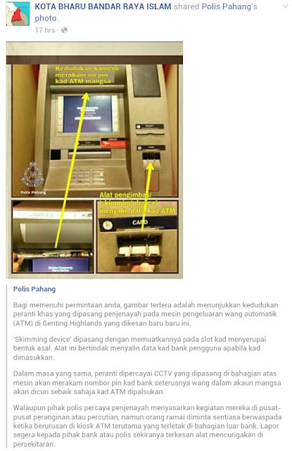 Penipuan Di Mesin ATM Benar Benar Wujud