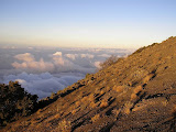 Looking north east from Rinjani summit ridge (Daniel Quinn, September 2009)