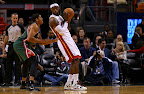 lebron james nba 121121 mia vs mil 01 LeBron Introduces the Ambassador but Switches to X in 2nd Half