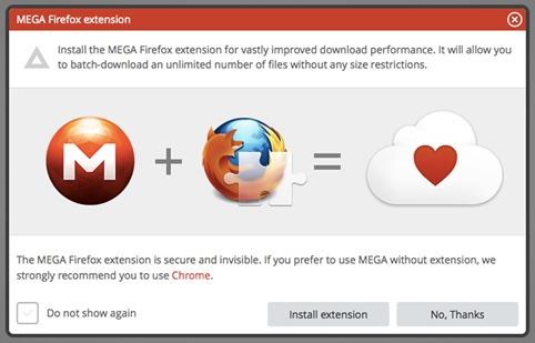 Plugin de Mega para Firefox