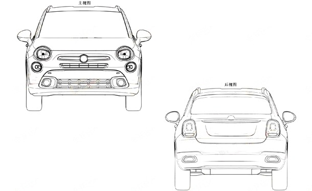 Fiat-500X-patent-front-and-rear-view