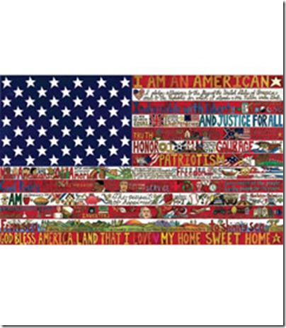 heirloom american flag painting via chasing fireflies