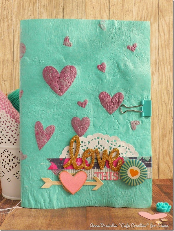 sizzix big shot - scrapbooking - fusing plastic bags - mini album - tutorial - by Anna Drai - cafecreativo (1)