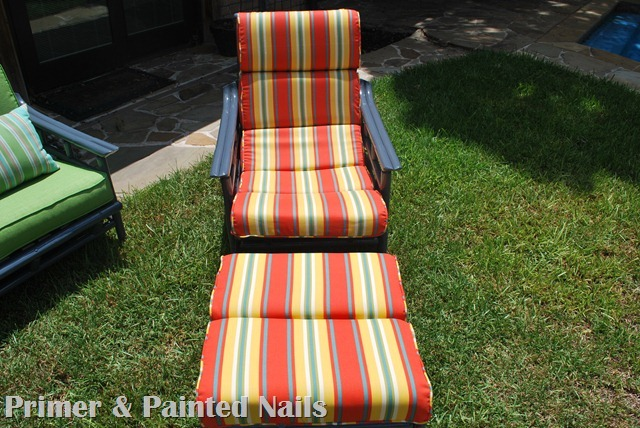 Bamboo Chair & Ottoman After Front