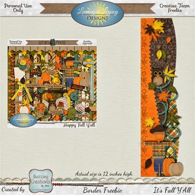 Leaving a Legacy Designs - It's Fall Y'all - Border Freebie Preview