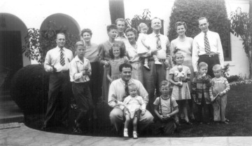 The whole gang--the Stapley Family at Palm Lane house