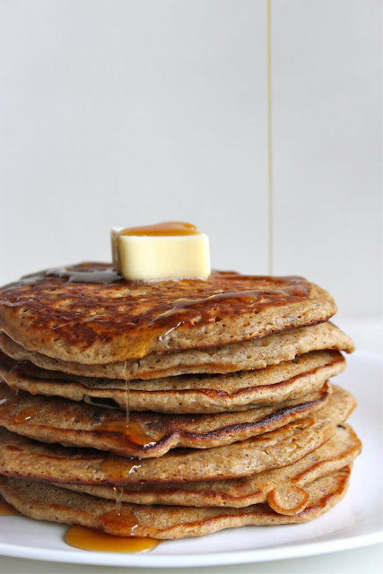 Cinnamon-Dark Chocolate Whole Wheat Pancakes