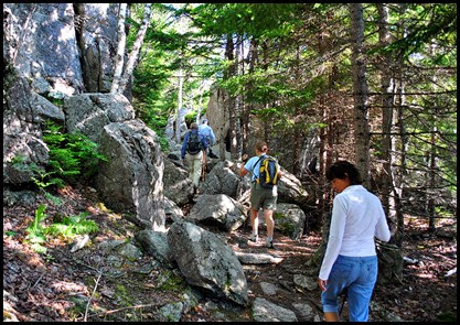 01d2 - Gorham Mtn Hike - Cadillac Cliff Trail - here we go