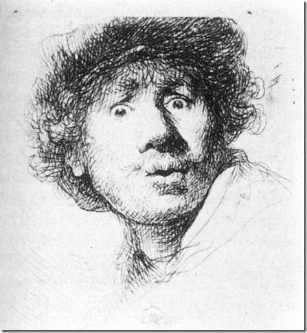 rembrandt - portret (grafika) 1630
