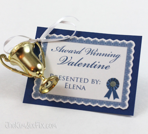 Trophy award valentine