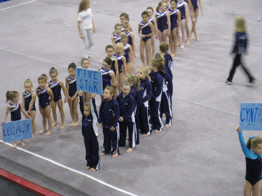 Girls line up before the meet during introductions!