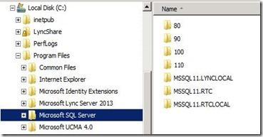 Lync 2013 - DB Location - 23 SE CE SQL Install