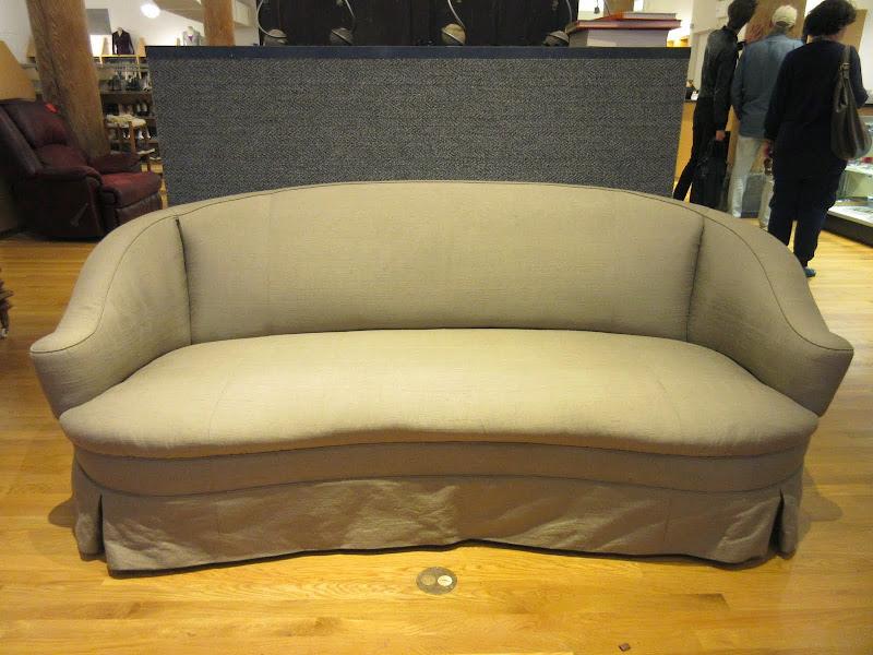 Custom Round- Back Sofa