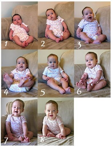 month by month baby photos 1-8