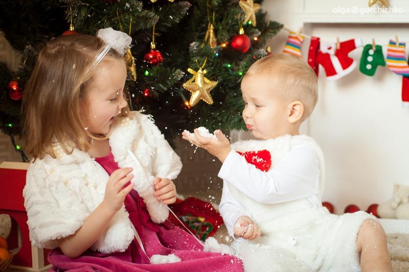 Детский новогодний фотопроект Рождественские мечты. 17. Глеб и Вероника-9829