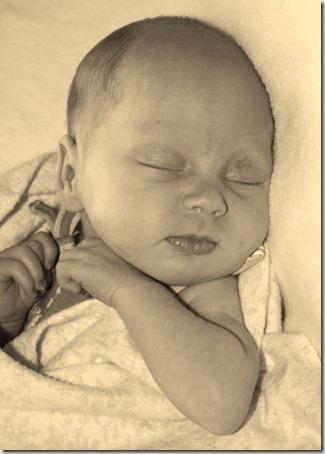 sleeping baby Alexis