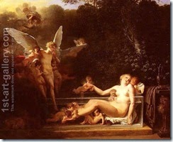Une-Nymphe-Au-Bain,-Environnee-D$27amours-$28a-Nymph-At-Bath,-Surrounded-By-Cupids$29