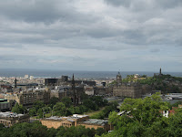 Edinburgh with storm clouds.