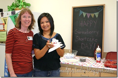 Teacher Appreciation Week - Strawberry Shortcake Buffet - mudpiestudio@blogspot.com