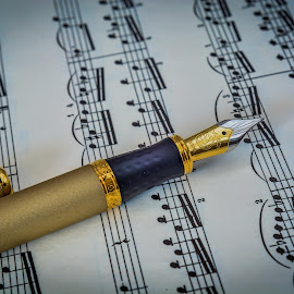 Love Music by Julian Popov - Artistic Objects Other Objects ( pen, old, oldmusic, vintage, art )