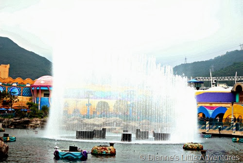 hong kong, ocean park, family, love, fountain, show