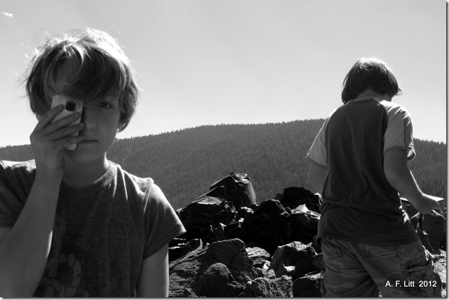 Big Obsidian Flow.  Newberry National Volcanic Monument, Oregon.  August 19, 2012.