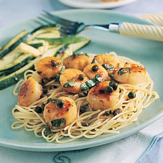 Vermouth Scallops over Vermicelli