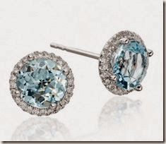 Blue Topaz and Diamond Earrings at Astley Clarke