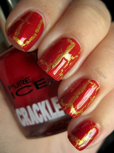Red And Gold Nail Design Red And Gold Nail Designs