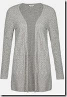 Cashmere Pointelle Ribbed Long Cardigan