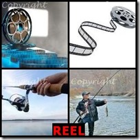 REEL- 4 Pics 1 Word Answers 3 Letters