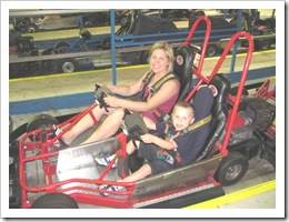 Florida vacation Old Town Trish on go cart