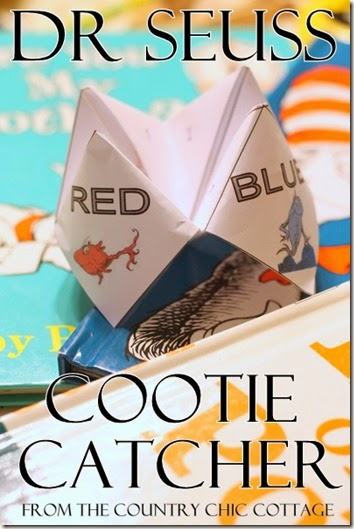 dr seuss cootie catcher country cottage chic