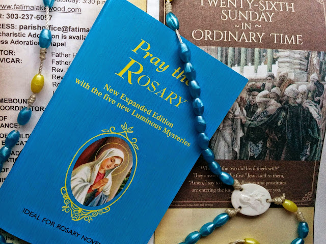 rosary and booklet parenting blog