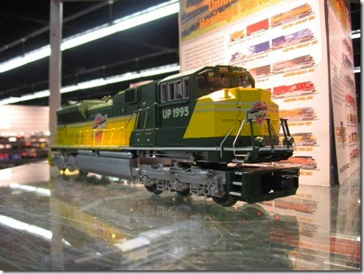 IMG_5349 O27 Union Pacific Heritage Fleet SD70ACe #1995 (Chicago & North Western) by MTH at the WGH Show in Portland, OR on February 17, 2007