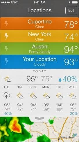 19 increíbles interfaces de aplicaciones móviles hechas para iOS 7 14